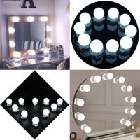 Makyaj Aynası Vanity LED Işık Ampulleri Seti Duvar Lambası Dimmer ve Güç Kaynağı Fişi ile Fordressing Masa, Ayna Dahil Değil