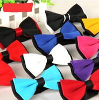 Envío libre de DHL Fedex ¡Venta caliente! Corbata de moño para hombre Corbatas de moño Pajarita de seda de hombre corbata de boda 24 colores para elegir 110 uds.