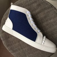 New Mens Womens White Spikes Canvas With White Leather Patch...