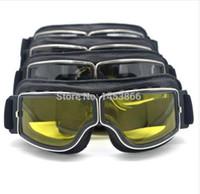 Hohe Qualität Motorrad Goggles Pilot Motorrad Brille Leder Retro Jet Helm Eyewear Radfahren Offroad Reiten Steampunk Goggle