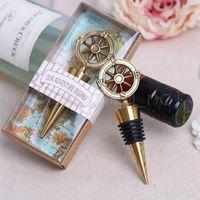 Goldene Kompass Wein Stopfen Hochzeit Bevorzugungen und Geschenke Wein Flaschenöffner Bar Werkzeuge Souvenirs für Partei-Geschenk GGA504 30pcs