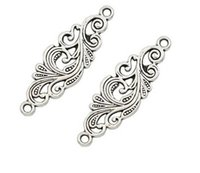 100pcs lot Ancient Silver Alloy Flowers Charms Components Pendants For diy Jewelry Making findings 11x35mm