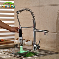 Single Lever Chrome Polished Kitchen Sink Faucet One Hole Mi...