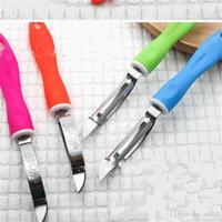 الفولاذ المقاوم للصدأ مقشرة pinkycolor مقبض المسوي أدوات المطبخ متعددة الوظائف الفواكه الخضروات التفاح البطاطا قطع سكين حاد 1 4lx v