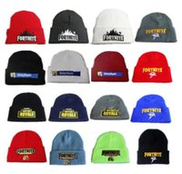 Winter Fortnite Battle Knitted Hats Teenager cap Beanie Embr...