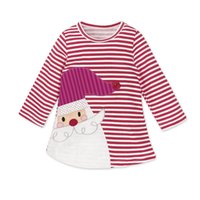 New foreign trade skirts Christmas girls girls striped deer ...