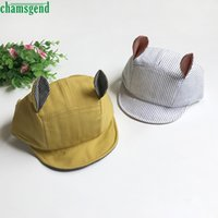 CHAMSGEND Drop ship Summer Infant Cute lace Rayas Casual Soft Eaves Gorra de béisbol Baby Boy Girls Hat junio 1 P30x