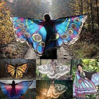2018 Summer Beauty Womens Beach Towel Butterfly Moth Wings S...