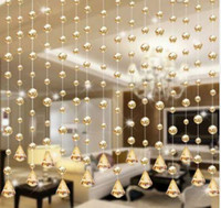 Новые 1 роскошные стеклянные бусины дверь строка кисточкой занавес свадьба разделитель панели декор whb0816