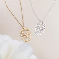 Оригами Лев лицо ожерелье животное Лев король голова ожерелье ювелирные изделия мужской Лев цепи ожерелья для нее