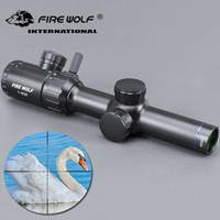 FRIE WOLF 1- 4x20 Hunting Rifle scope Green Red Illuminated R...