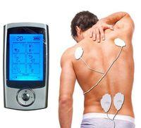 16 modos de TENS Unidade Eletrônica Digital pulso terapia Massager Muscle completa Mini corpo Acupuntura terapia magnética Dezenas Massagem azul de prata