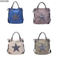 SFDVBB Canvas Shopping Handtasche Schulter Bat Travel Tote Messenger Star Printing Taschen