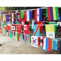 2018 Russia World Cup Hanging Flags 14*21cm Top 32 Countries...