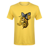 Plus Size XXXL Angry Hornet Men T Shirts Cotton Yellow Bee T...