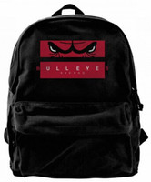 See Red Eyes Slogan Canvas Shoulder Backpack For Men & Women...