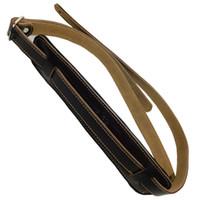 عتيقة الطراز غيتار باس حقيقي حزام لينة Leaher مبطن قابل للتعديل الكهربائية الصوتية الأسود