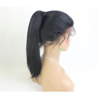 Virgin Brazilian Yaki Straight Full Lace Wig Glueless Yaki S...