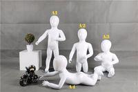Maniquí de alta calidad Lovey Gloss White Child Mannequin Child Maniquí de Babay para exhibición hecha en China