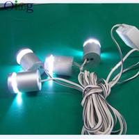 6 PCS / SET LED Standoff Coloré Lumière En Aluminium Signe Côté Fixation Fixation Support Pour Acrylique Plaque Affichage LED Signage Titulaire