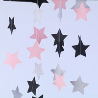 Uso multi DIY 2m Star Paper Garland Banner Wedding Party Bunting Estrella Decoración de papel Hot Banner Drop Garland