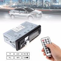 Бесплатная доставка Черный 12 В In-Dash FM Автомобильный вход Авто Стерео 50 Вт х 4 ЖК-дисплей SD USB MP3 WMA Радио-плеер