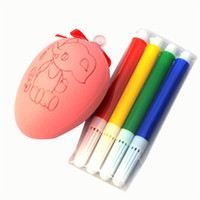 Water Color Pen Egg Kids DIY Painting Color Egg Toy Easter E...