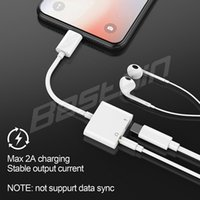 Audio 2 in 1 Charger Adapter 3. 5mm Jack Earphone Headphone A...