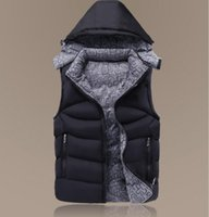 Fall-Factory direct sales 90% white duck down Coat Men down Vest collar men's cultivate one's morality Down sleeveless jacket