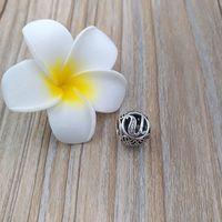 U bis Z Buchstaben 925 Sterling Silber Perlen Vintage Charme passt europäischen Pandora-Stil Schmuck Armbänder Halskette 791865cz
