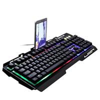 Brandneues Spiel Leuchtende verdrahtete USB-kabelgebundene Tastaturanzug mit Regenbogen-Hintergrundbeleuchtung LED-Leuchten Mechanische Tastatur-Gaming-Tastatur