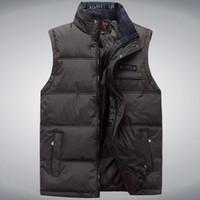 Sıcak erkek Yelek Ceket Kaban Kolsuz Yelek Homme Kış Rahat erkek Artı boyutu 4XL Sıcak Ceket Yelek Erkekler Yelek asya Boyutu