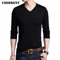 COODRONY Men Sweater Casual V- Neck Pullover Men Clothes 2018...
