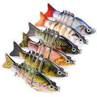 브랜드 클래식 디자이너 현실적인 물고기 Musky fishing baits 8.5cm 10.76g Mutil Jointed Lure 6 Segments 자유로운베이스 미끼
