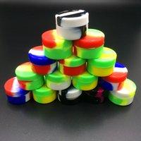Contenitore di cera contenitore antiaderente in silicone 5ml Contenitore di olio in barattolo di silicio per alimenti Dab Contenitore per olio Vaporizer Vape Approvato dalla FDA