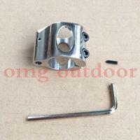 Acier inoxydable Low Profile Micro bloc acier 0,75 pouces gaz bloc