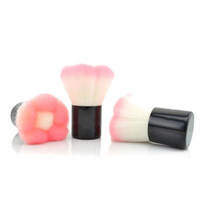 Preciosa populares Excelente rosado de la flor de la cara solo cepillo de Kabuki Blush brocha para polvos cosméticos mejilla cepillo del maquillaje