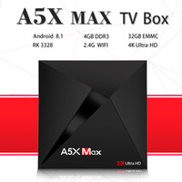 A5X MAX Android 8. 1 Tv Box 4G 32G Rockchip RK3328 2. 4GHz WiF...