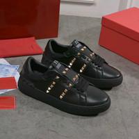 cheaper 16597 69b7e Nuevos populares zapatos de camuflaje remache de cuero Genuino hombre  corriendo zapatillas hombre zapatos casuales zapatillas de marca de lujo V  yl18060908