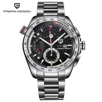 Black Watch Full Stainless Steel Sport Watches Men Quartz Wa...