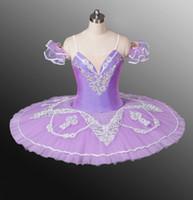 Fairy Roxo Meninas Trajes Profissional Lilás Ballet Tutu, Pink Clássico Panqueca Tutu, Performance Ballet Dance Skirt para Mulheres