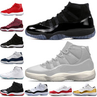 11 11s Cap and Gown Prom Night Men Basketball Shoes Platinum...