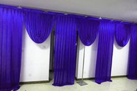 6m wide swags of backdrop valance wedding stylist backcloth ...
