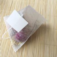 1000pcs / lot PLA biodegrada té filtros de fibra de maíz bolsas de té de forma cuadrangular Pirámide sellado en caliente bolsas filtrantes de calidad alimentaria 55 70 mm *