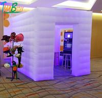 بابين / 2-doors مخصص حفل زفاف نفخ photobooth أدى خيمة صور بوث