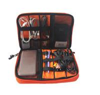 Универсальный чехол для путешествий электроника аксессуары вещи мешки открытый хранения сумка Power Bank сотовый телефон двойной слой кабель для передачи данных сумка 50 шт.