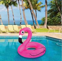 90 cm Bebek Şişme Kuğu Flamingo Çocuk yüzme laps Sunnylife bebek çocuk Su Sporları Yüzme Can Yeleği BuoyFlamingo yüzmek yüzükler