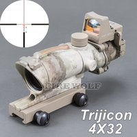 Trijicon ACOG 4X32 Style Fiber Source Red Illuminated (Real Red Fiber) Сфера применения с RMR Micro Red Dot Sight Зеленый камуфляж
