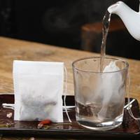 Bolsas de té reutilizables 90 * 70 mm filtro de filtro de cera de nylon fina hierba Hierba floja filtro de té DIY con cadena LX3464