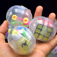 Multi styles Twisted egg toys 47x55mm transparent plastic ch...